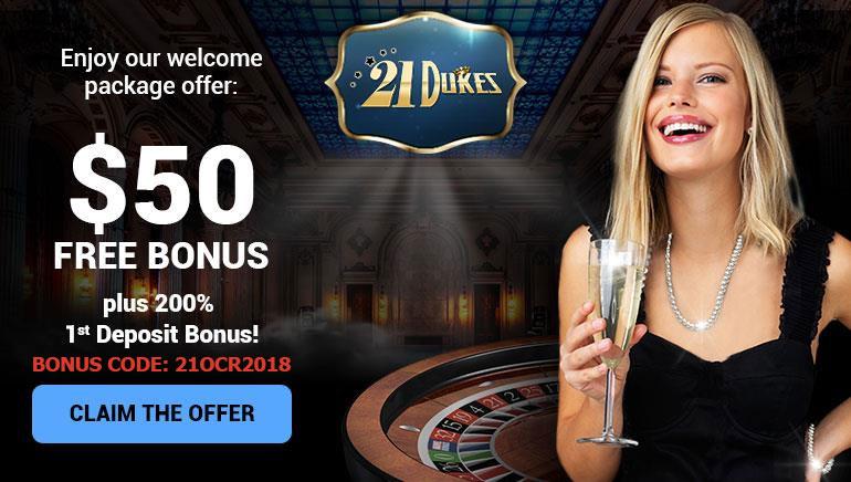 Ekskluzivni OCR Bonus za nove 21Dukes Casino igrače