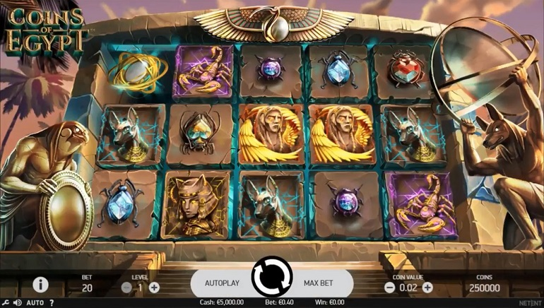 NetEnt objavio Coins of Egypt slot